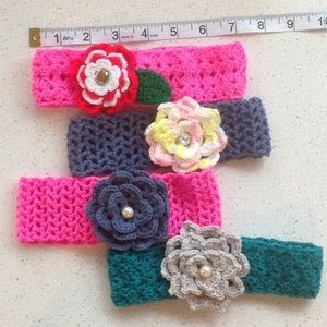 Other - Crocheted Headband Set of 4 for $12